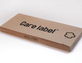 Gatefold Care label